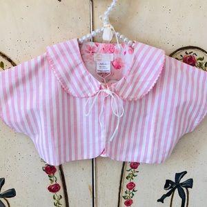 NWT Dollcake Pink White Striped Bolero Crop Jacket